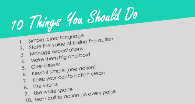 10 things you should do with landing pages