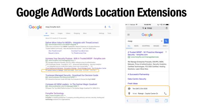 Google AdWords Locations